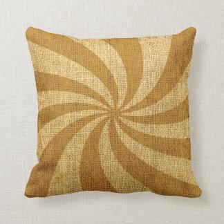Vintage Circus Spiral Golden Cushions
