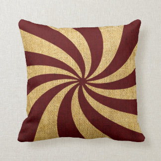 Vintage Circus Spiral Red Throw Cushion