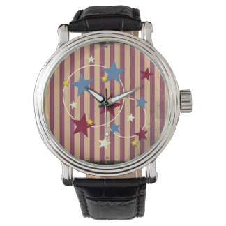 Vintage Circus Stars and Stripes Watch