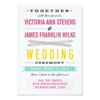 "Vintage Circus Wedding Invitations 5"" X 7"" Invitation Card"
