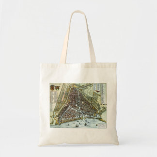 Vintage city map of Rotterdam Budget Tote Bag