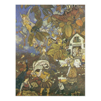 Vintage Classic Storybook Characters, Edmund Dulac Postcard