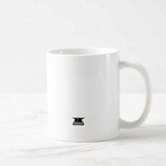 vintage classic typewriter basic white mug