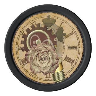 Vintage Clock Collage Poker Chips