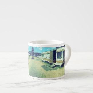 Vintage Coffee Mug, 70's kitsch Caravan Espresso Cup