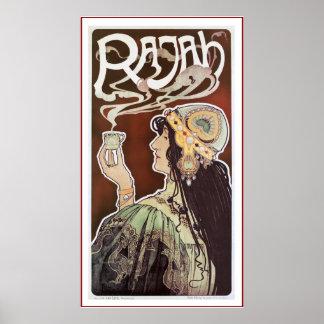 Vintage Coffee Poster Print: - Rajah Coffee