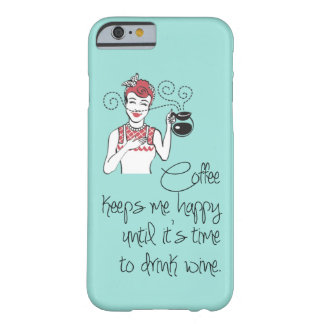 Vintage Coffee & Wine iPhone 6 case Barely There iPhone 6 Case
