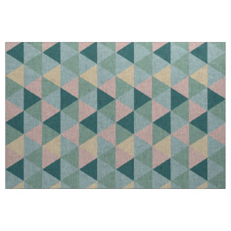 Vintage colorful triangle pattern fabric