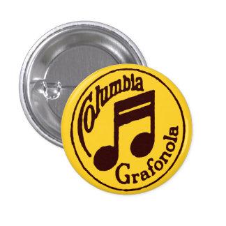 Vintage Columbia Grafonola Stamp Music Notes Pin
