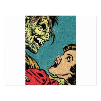 vintage comic book villan post card