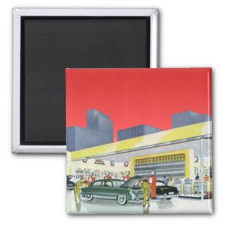 Vintage Complete Car Service Garage Auto Mechanics Refrigerator Magnet