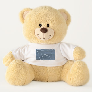 Vintage Computer Punched Card Teddy Bear