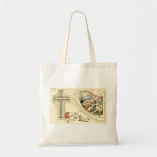 Vintage Consider The lillies Easter Greeting Tote Bag
