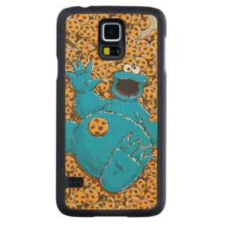 Vintage Cookie Monster and Cookies Maple Galaxy S5 Case