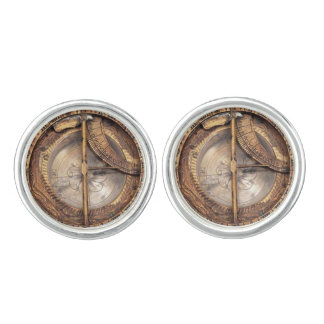 Vintage Copper Compass image Cufflinks