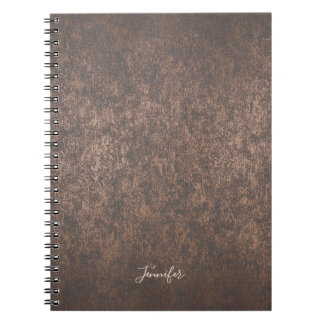 Vintage Copper Texture with Name Notebooks