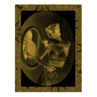 Vintage corsets Looking in the mirror earth Postcards