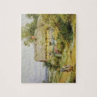 Vintage Country Cottage and Children Puzzle