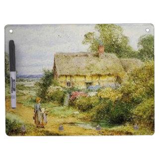 Vintage Country Cottage Children Dry Erase Board