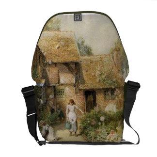 Vintage Country Cottage ~ Chores Messenger Bag