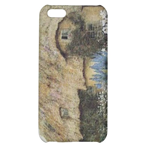 Vintage Country Cottage with Flower Garden iPhone 5C Covers