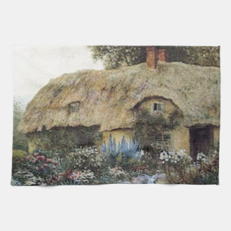 Vintage Country Cottage with Flower Garden  Kitche Tea Towels
