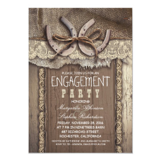 vintage country engagement party invitations