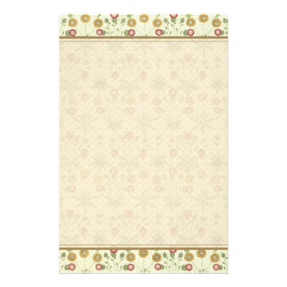 Vintage Country Floral Pattern Stationery