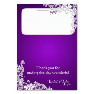 Vintage Country Lace Purple Seating Card Table Cards