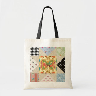 Vintage Country Style Evening Star Quilt Pattern Canvas Bag