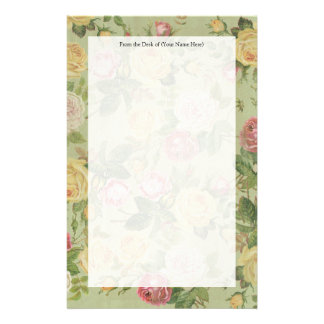 Vintage Country Weathered Floral Stationery