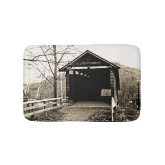 Vintage Covered Bridge Bath Mat