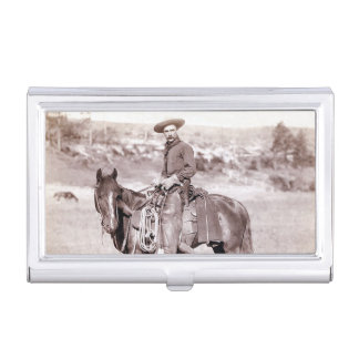 Vintage Cowboy American West Horse Business Card Case