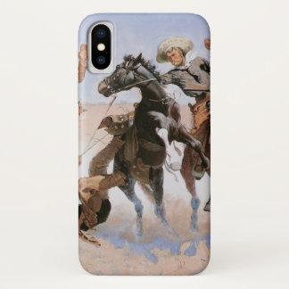 Vintage Cowboys, Aiding a Comrade by Remington iPhone X Case