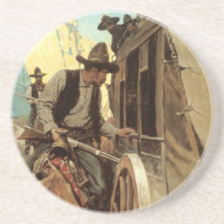 Vintage Cowboys, The Admirable Outlaw by NC Wyeth Coaster