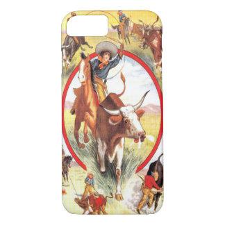 """Vintage Cowgirl"" Western iPhone 7 case"