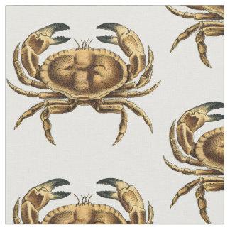 Vintage Crab Fabric