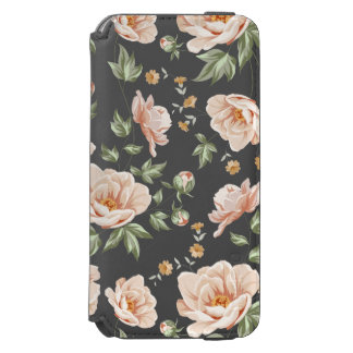 Vintage creamy orange spring floral pattern incipio watson™ iPhone 6 wallet case