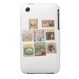 Vintage Cuba seals Memorabilia Labels Case-Mate iPhone 3 Cases