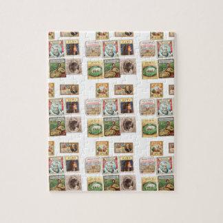 Vintage Cuba seals Memorabilia Labels Jigsaw Puzzle
