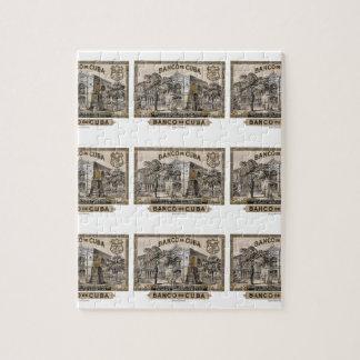 Vintage Cuban Bank of Cuba of Cuba Jigsaw Puzzle