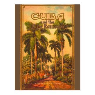 Vintage Cuban Travel - Cuba Railroad Postcard