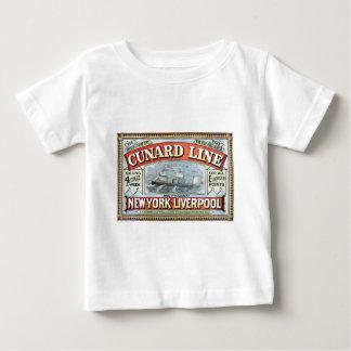 Vintage Cunard Line Sailing New York to Liverpool Infant T-Shirt