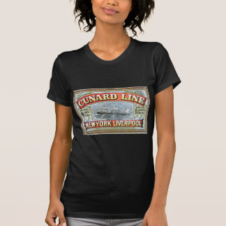 Vintage Cunard Line Sailing New York to Liverpool T-shirts