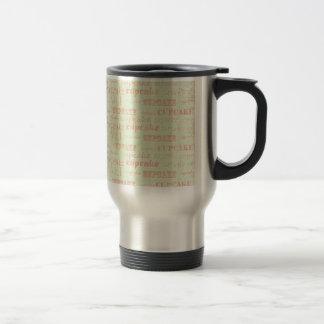 Vintage Cupcake Typography Coffee Mug
