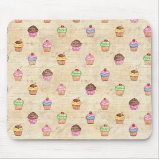 Vintage Cupcakes Mouse Pad