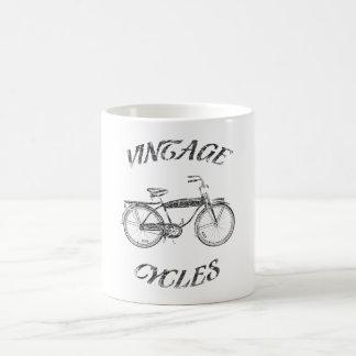 Vintage cycles basic white mug