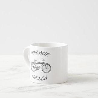 Vintage cycles espresso mug