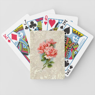 Vintage Damask and Roses Playing Cards