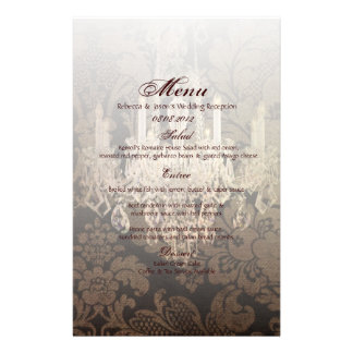 vintage damask chandelier wedding stationery